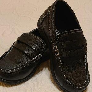"""🐠3/$25 Boys Coxist """"Boyd"""" black loafers, Sz 9"""